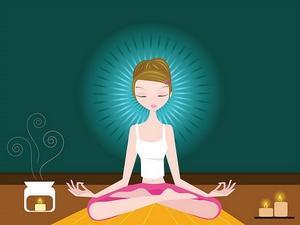 Position lotus meditation